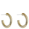 Snö of Sweden Adara Small Oval Earring Gold/Clear