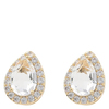 Snö of Sweden Three Small Earring Gold/Clear
