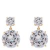 Snö of Sweden Duo Pendant Earring Gold/Clear