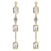 Snö of Sweden Twice Long Earring Gold/Clear