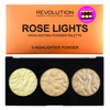 Makeup Revolution Highlighter Palette Rose Lights