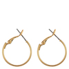 Snö of Sweden Mystic Small Ring Earring Plain Gold 20 mm