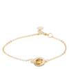 Snö of Sweden Connected Chain Bracelet Gold/Clear