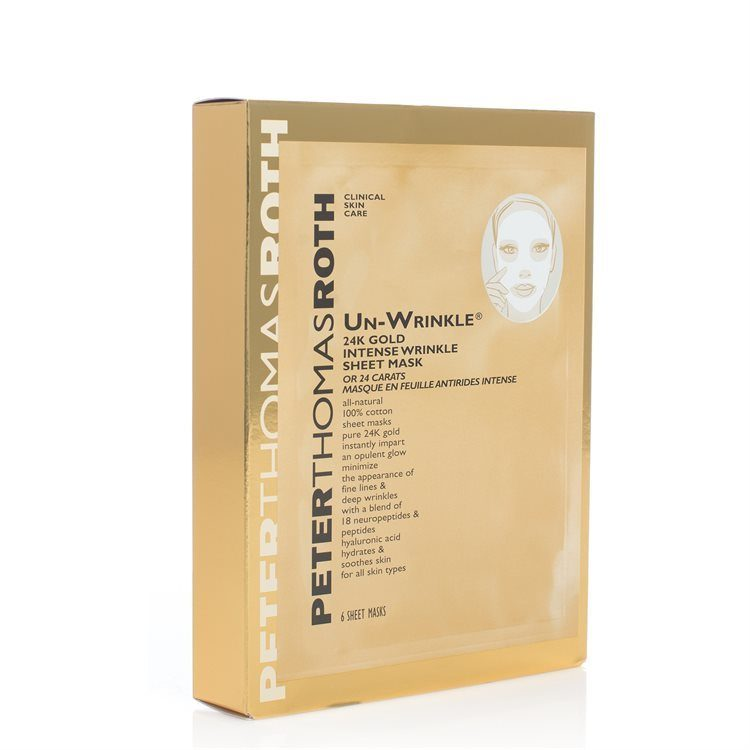 Peter Thomas Roth Un-Wrinkle 24K Gold Intensive Sheet Mask 6stk