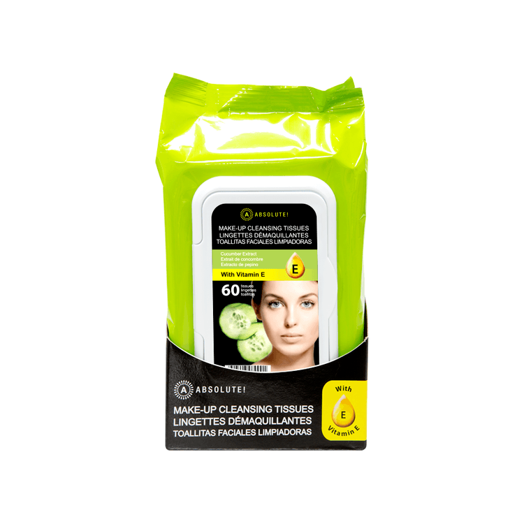 Absolute New York Make-Up Cleansing Tissues Cucumber Extract 60 st