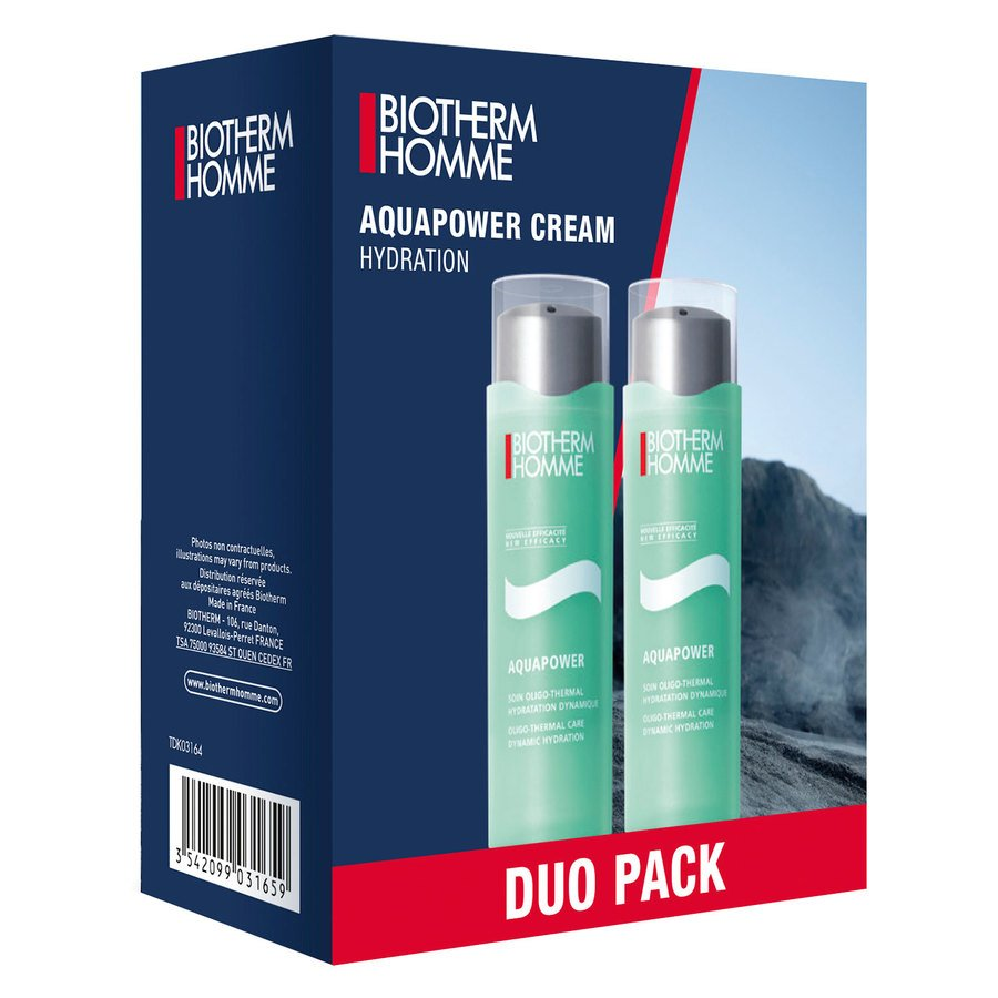 Biotherm Homme Aquapower Cream Hydration Duo Set