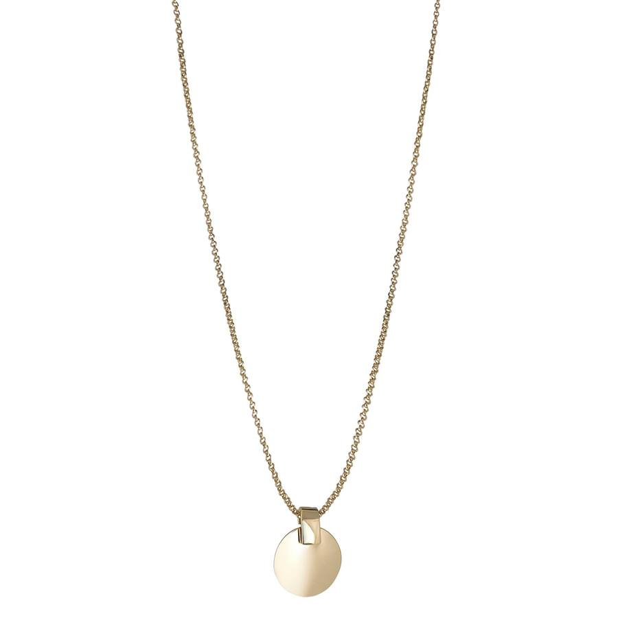 Snö of Sweden Carrie Pendant Necklace Plain Gold 42cm