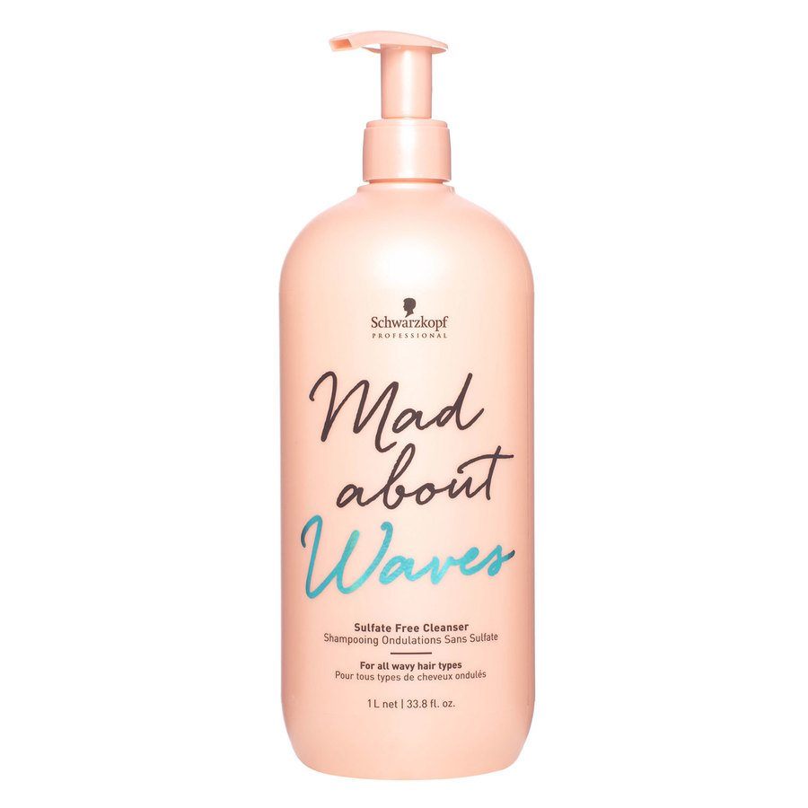 Schwarzkopf Mad About Waves Sulfate Free Cleanser 1000 ml