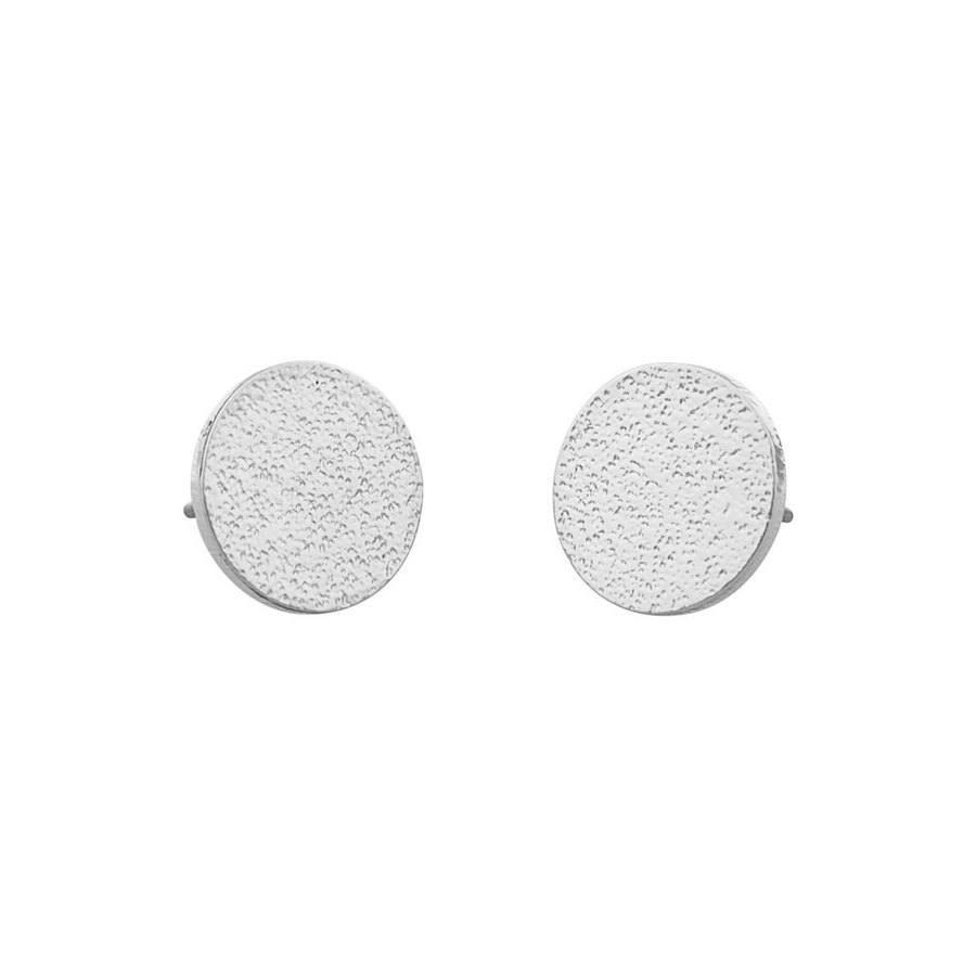 Snö of Sweden Lynx Small Coin Earring Plain Silver
