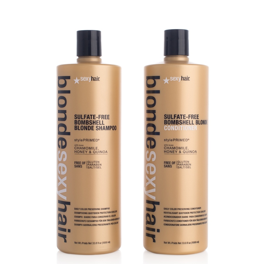 Blonde Sexy Hair Shampoo 1000 ml och Conditioner 2 x 1000 ml (duo)