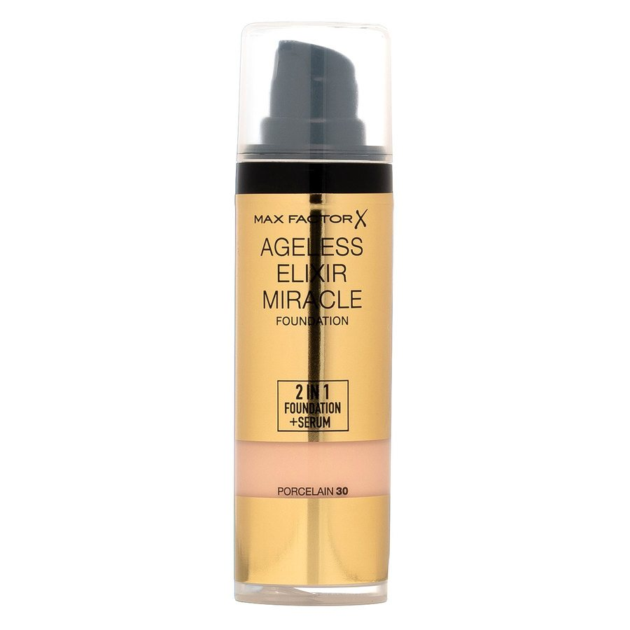 Max Factor Ageless Elixir Miracle 2 In 1 Foundation + Serum - 30 Porcelain