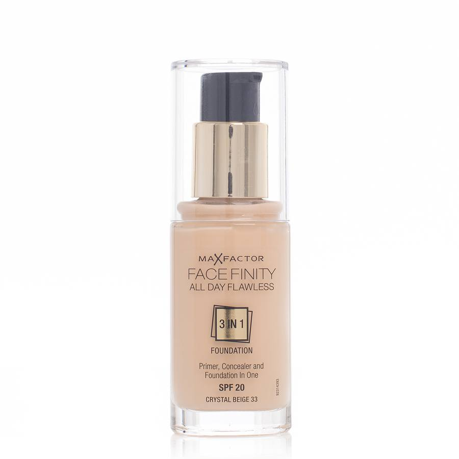 Max Factor Facefinity 3 In 1 Foundation 33 Crystal Beige 30ml