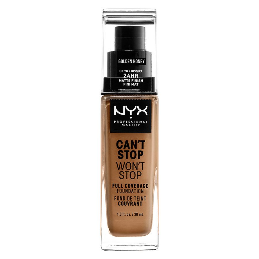 NYX Professional Makeup Can't Stop Won't Stop Full Coverage Foundation Golden Honey 30 ml