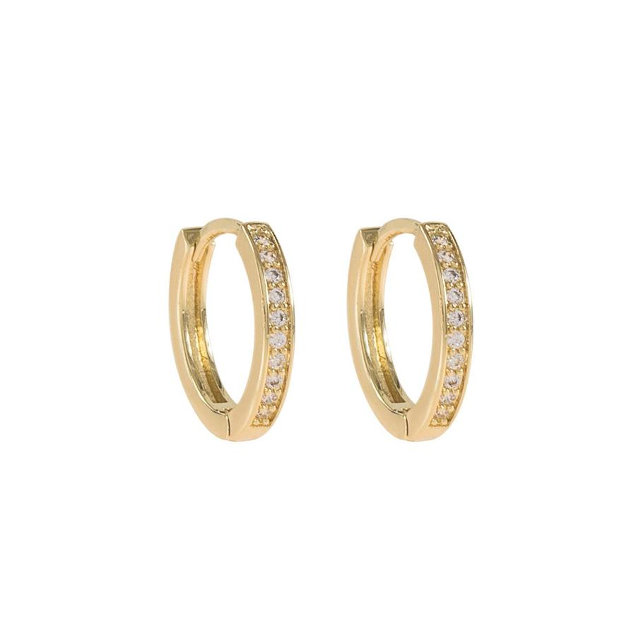 Snö Of Sweden Elaine Small Ring Earring Gold/Clear 14 mm