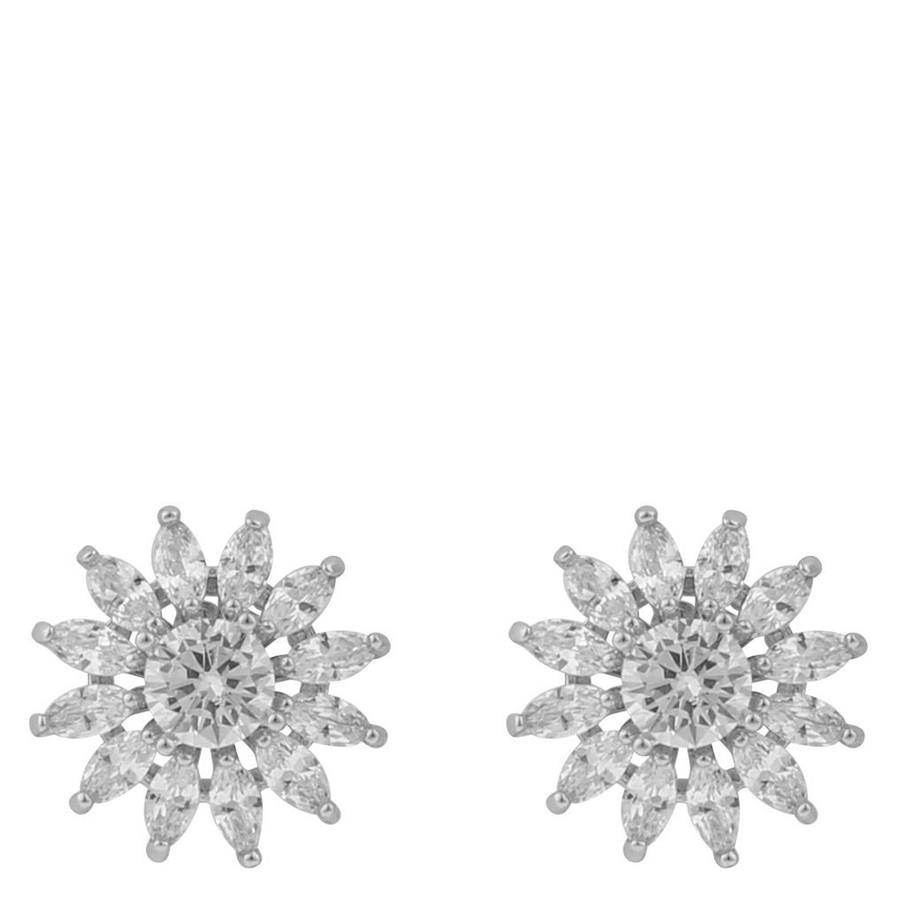 Snö of Sweden Kathy Small Earring Silver/Clear