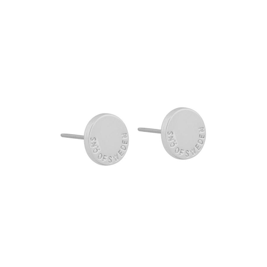 Snö Of Sweden Remy Small Earring Round Plain Silver 8 mm