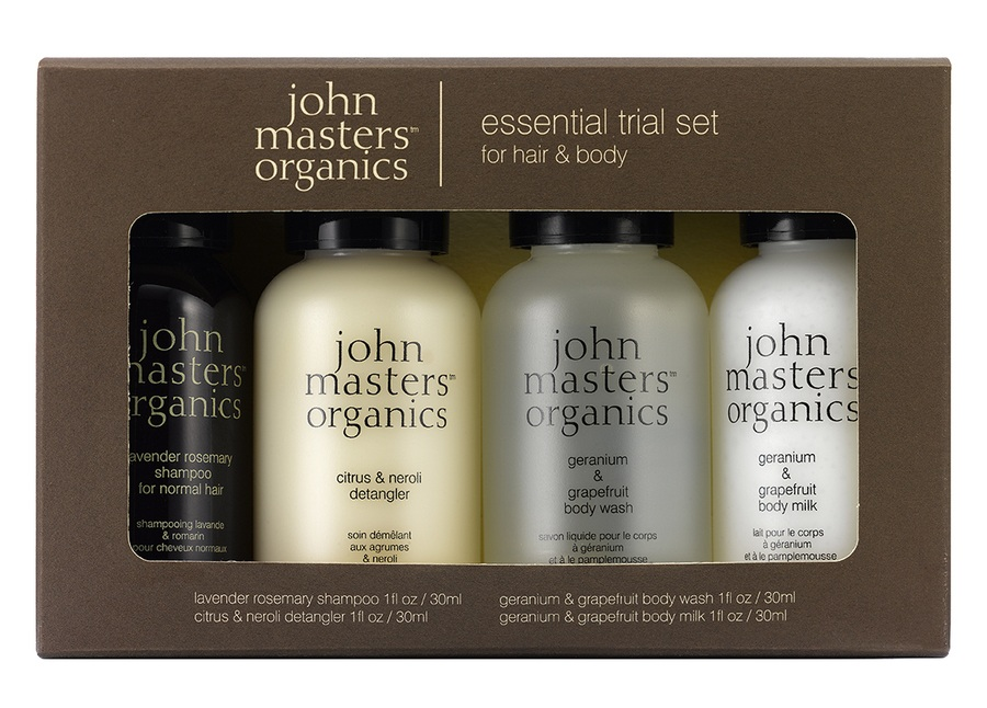 John Masters Organic Essential Kit For Hair & Body 4 delar