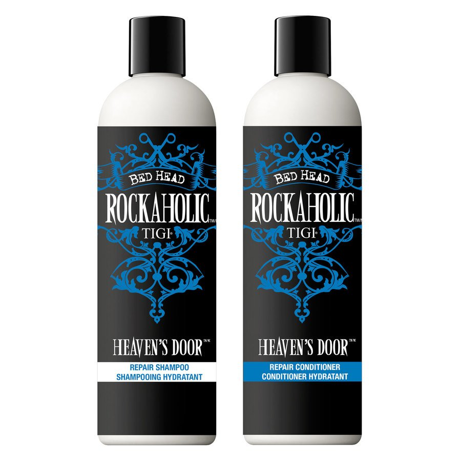 TIGI Rockaholic Heaven's Door Repair Shampoo & Conditioner 355ml x2