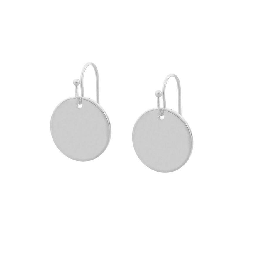 Snö of Sweden Emily Small Pendant Earring Plain Silver