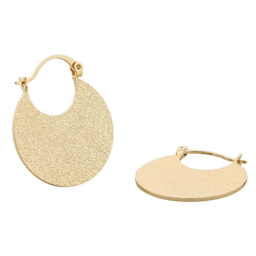 Snö of Sweden Lynx Round Earring Plain Gold