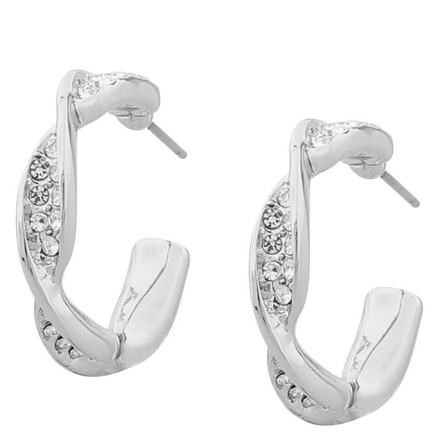Snö of Sweden Leonie Small Oval Earring Silver/Clear