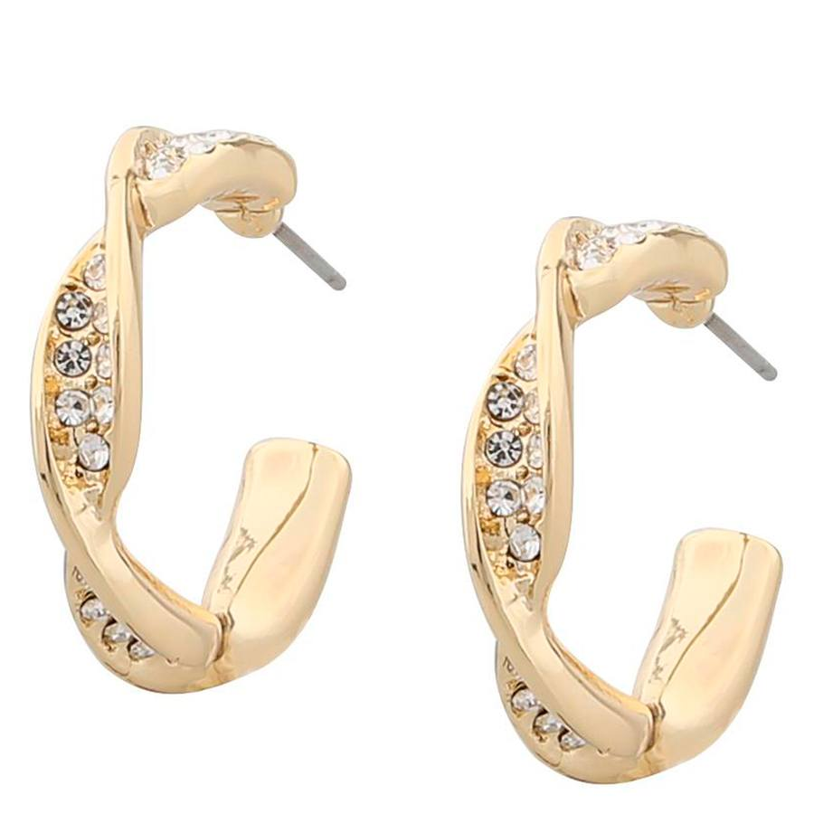 Snö of Sweden Leonie Small Oval Earring Gold/Clear