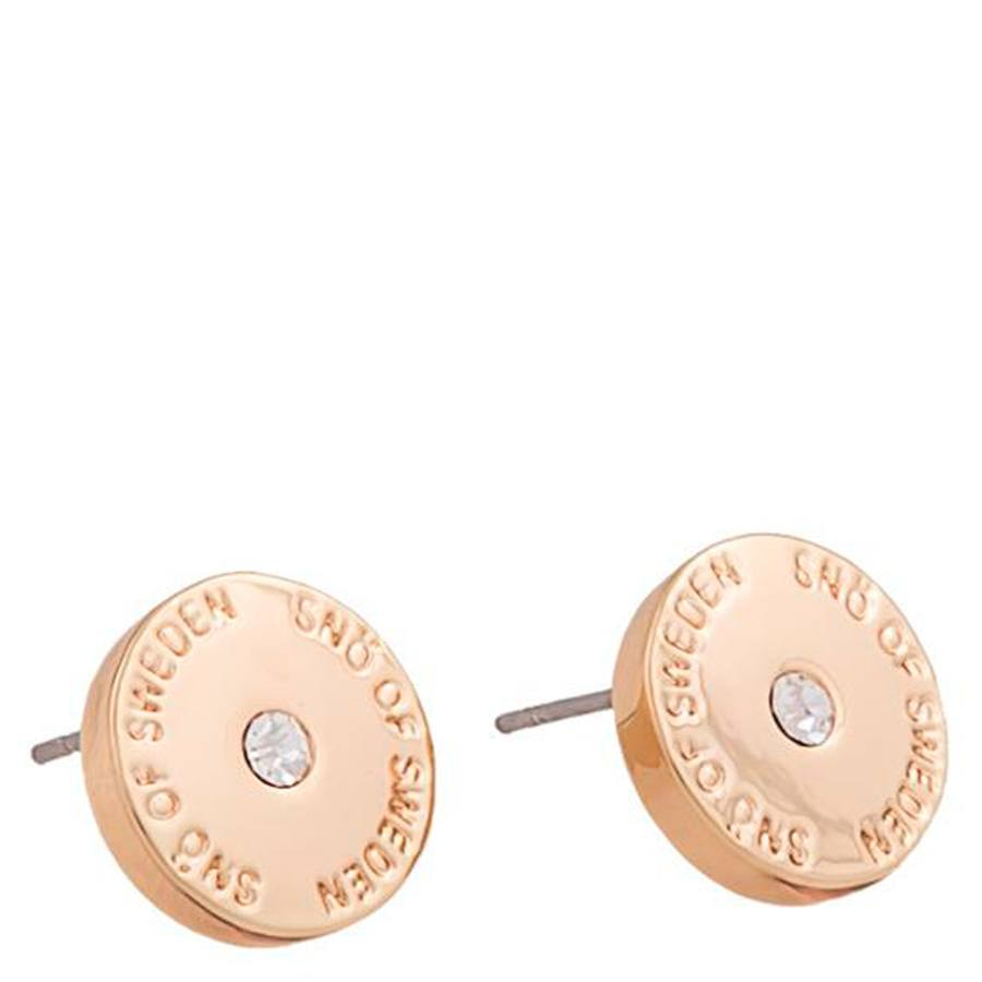 Snö of Sweden Harly Small Earring Rosé/Clear 10 mm