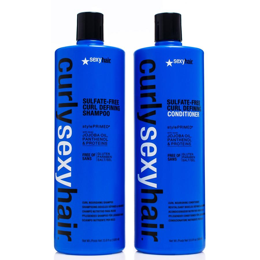 Curly Sexy Hair Shampoo och Balsam 2 x 1000 ml (Duo)