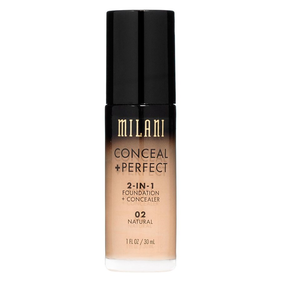 Milani Conceal & Perfect 2 In 1 Foundation + Concealer Natural 30 ml