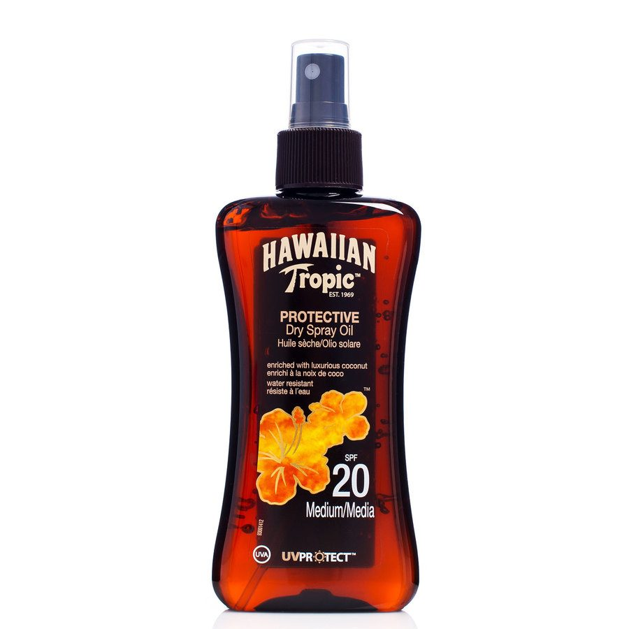 Hawaiian Tropic Protective Dry Spray Oil SF20 200 ml