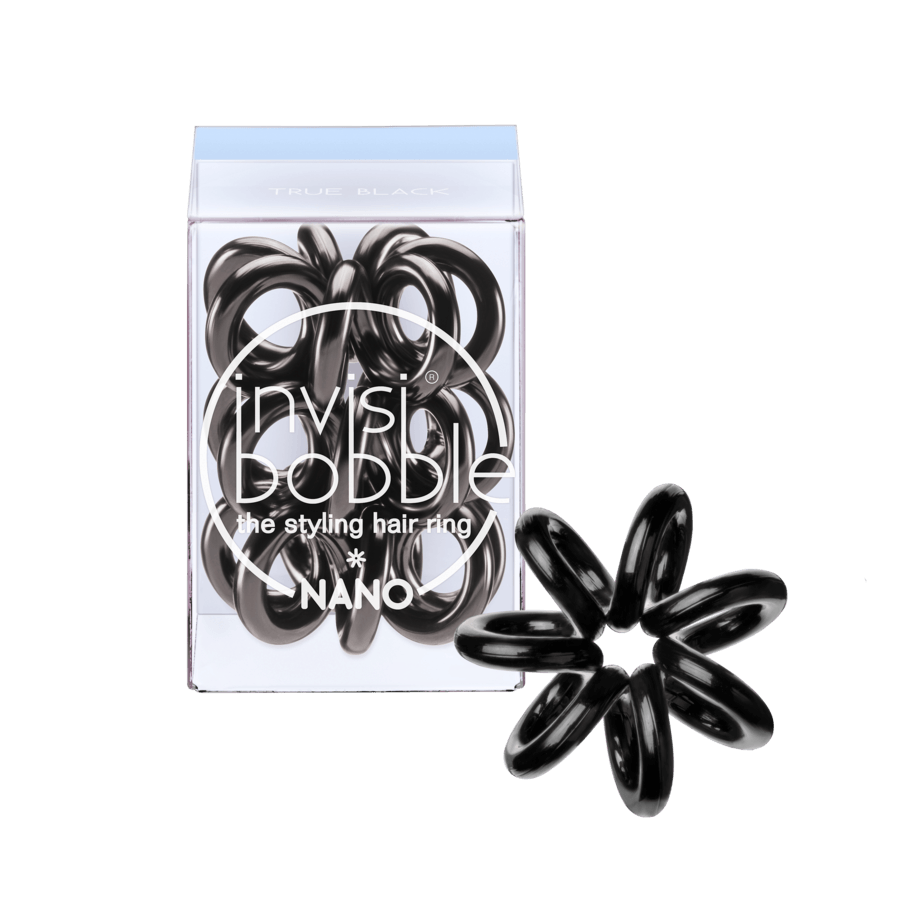 Invisibobble Nano 3 Styling Hair Rings True Black