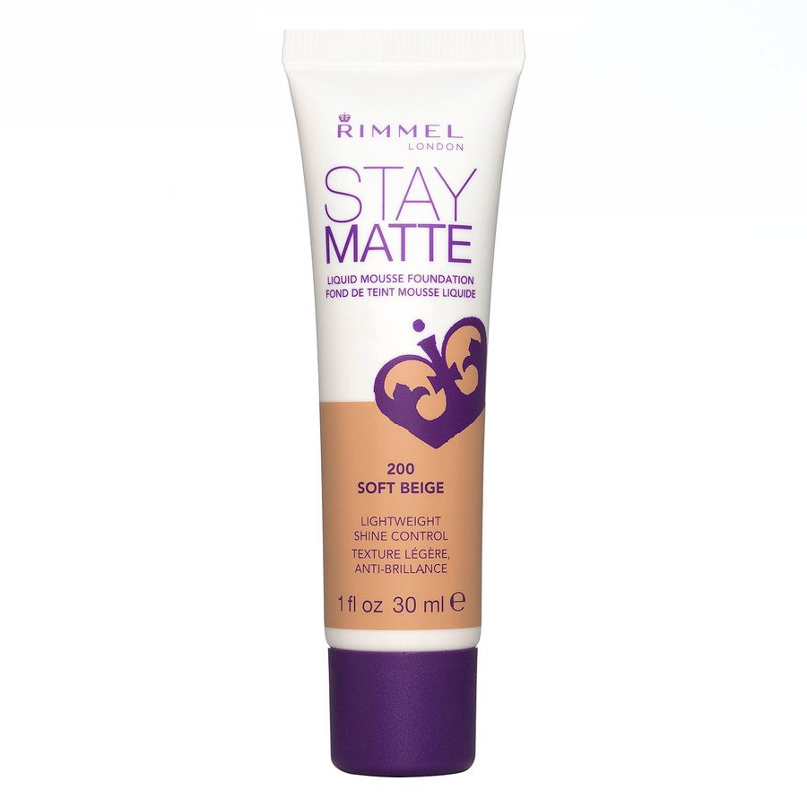 Rimmel Stay Matte Liquid Mousse Foundation Soft Beige 200 30ml