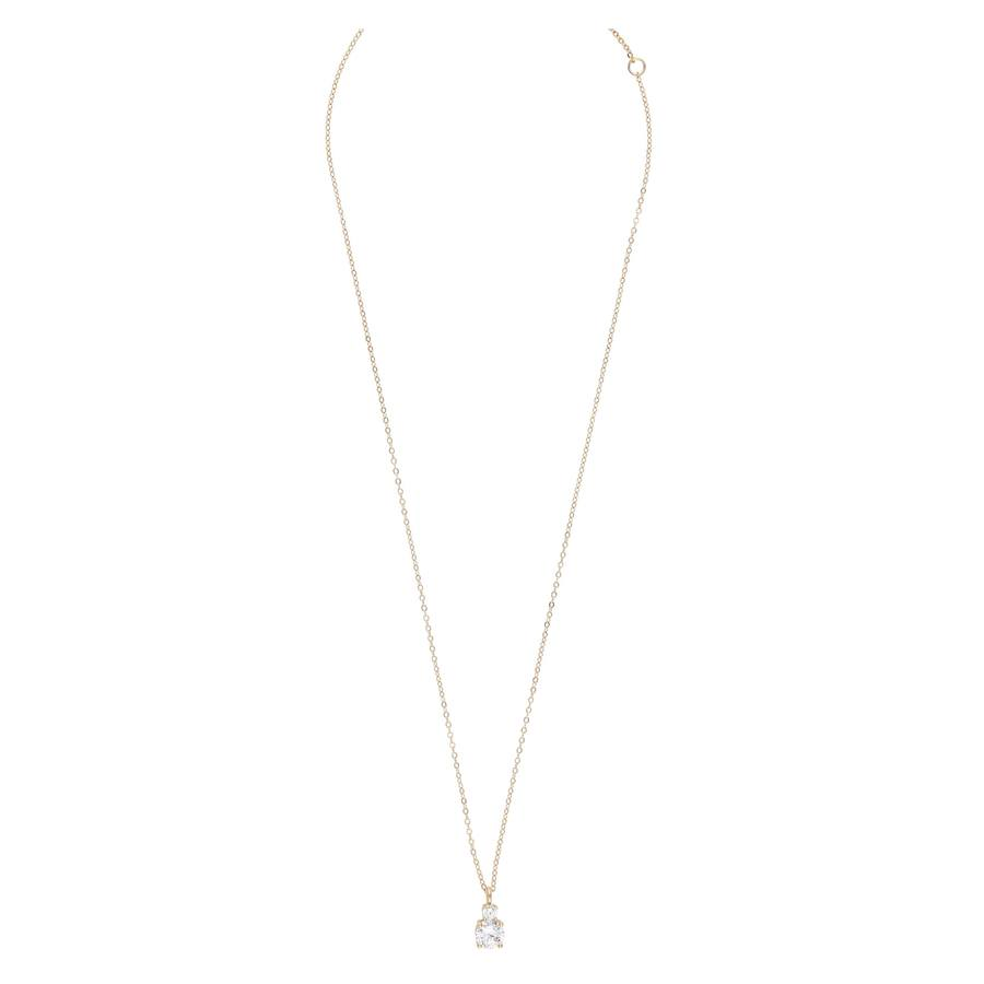 Snö Of Sweden Duo Pendant Necklace Gold/Clear 42cm