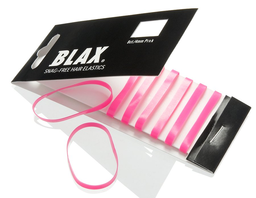 Blax Snag-Free Hair Elastics 4 mm 8pcs Pink