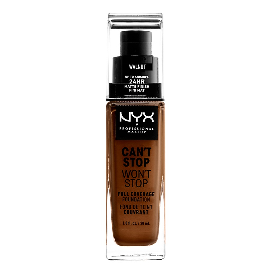 NYX Professional Makeup Can't Stop Won't Stop Full Coverage Foundation Walnut 30 ml