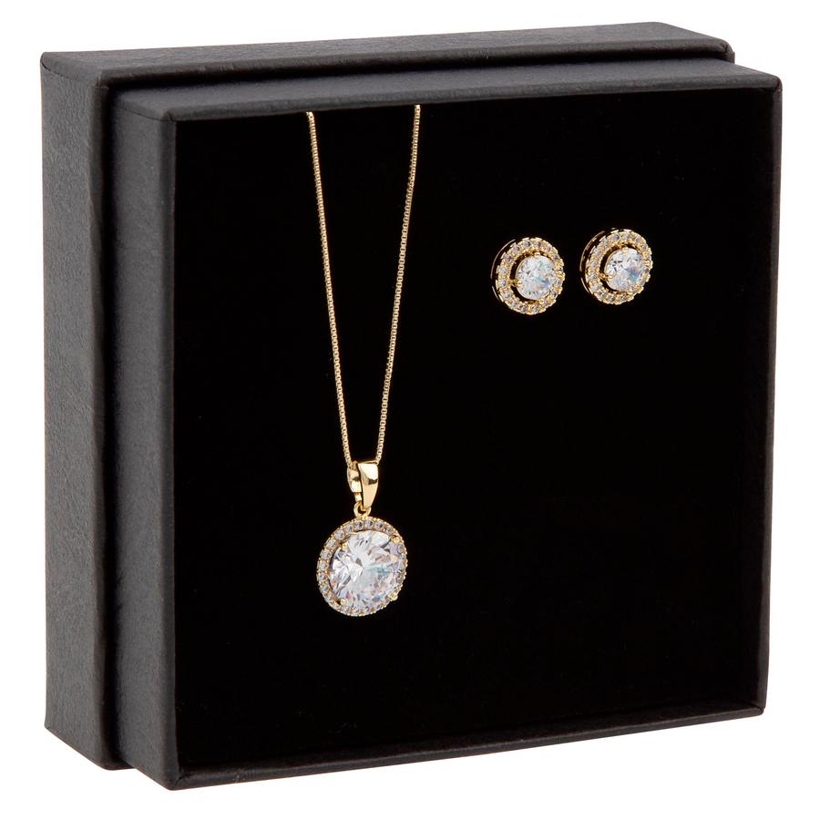 Snö of Sweden Gift Neck Set Lex Gold/Clear