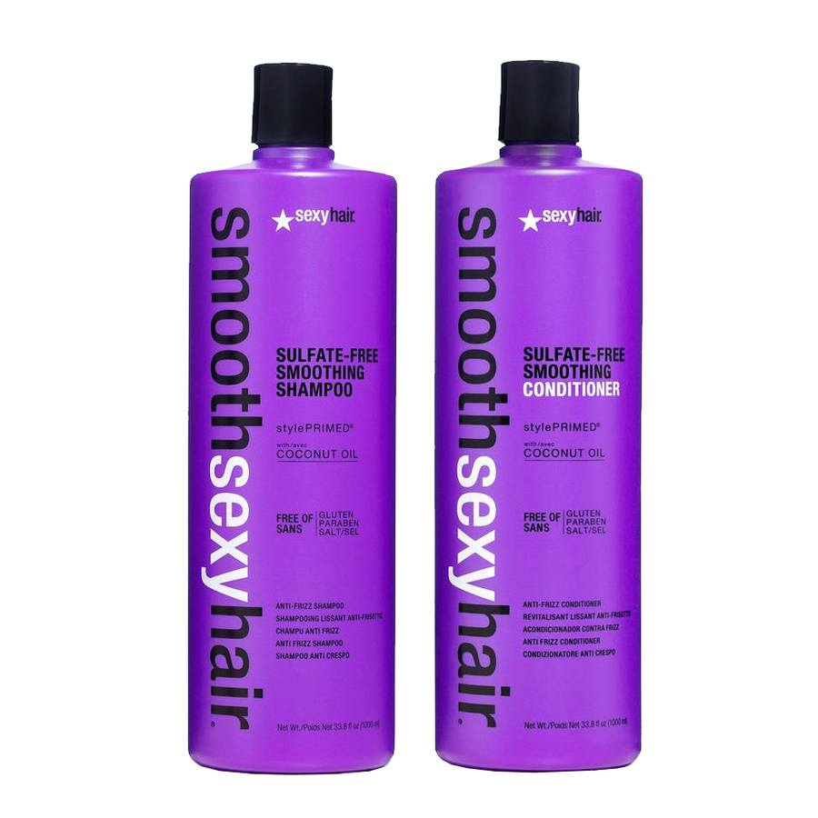 Sexy Hair Smooth Shampoo and Conditioner 2 x 1000 ml (Duo)
