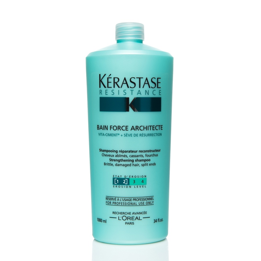 Kérastase Resistance Bain Force Architecte Strengthening Shampoo 1000 ml