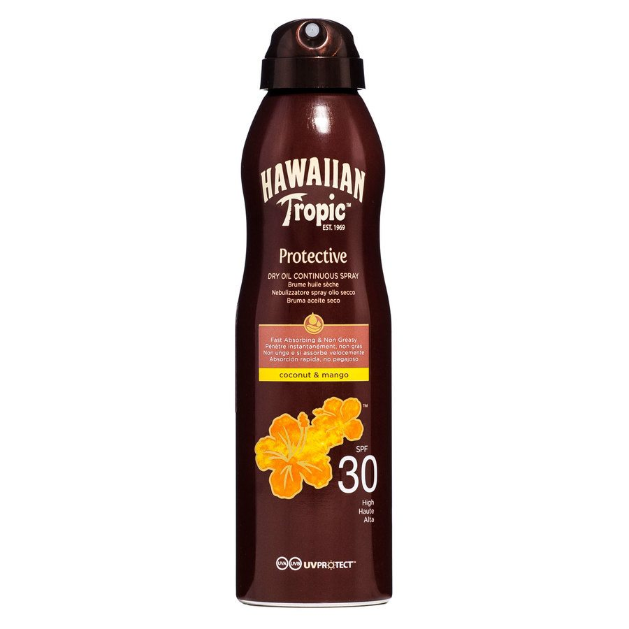 Hawaiian Tropic Protective Dry Oil Continuous Spray Spf30 177ml