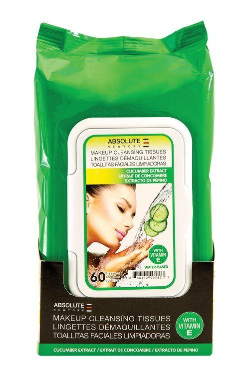 Absolute New York Make-Up Cleansing Tissues Water Based Cucumber Extract 60 st