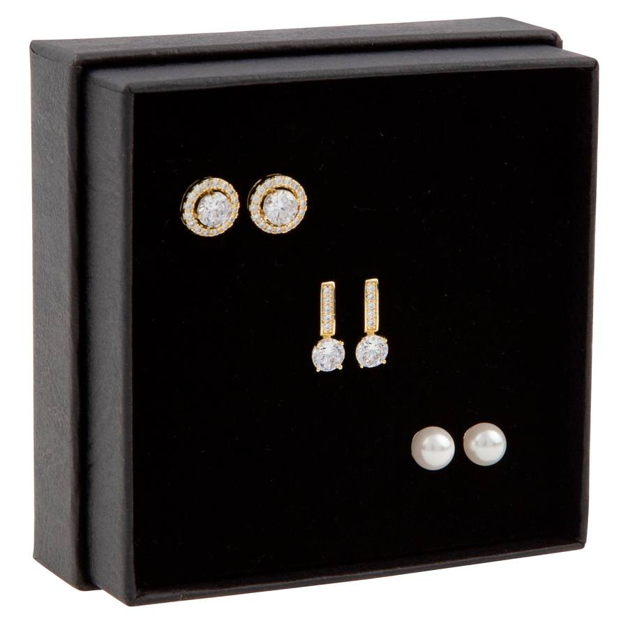 Snö of Sweden Gift Ear Set Lou Gold/Clear