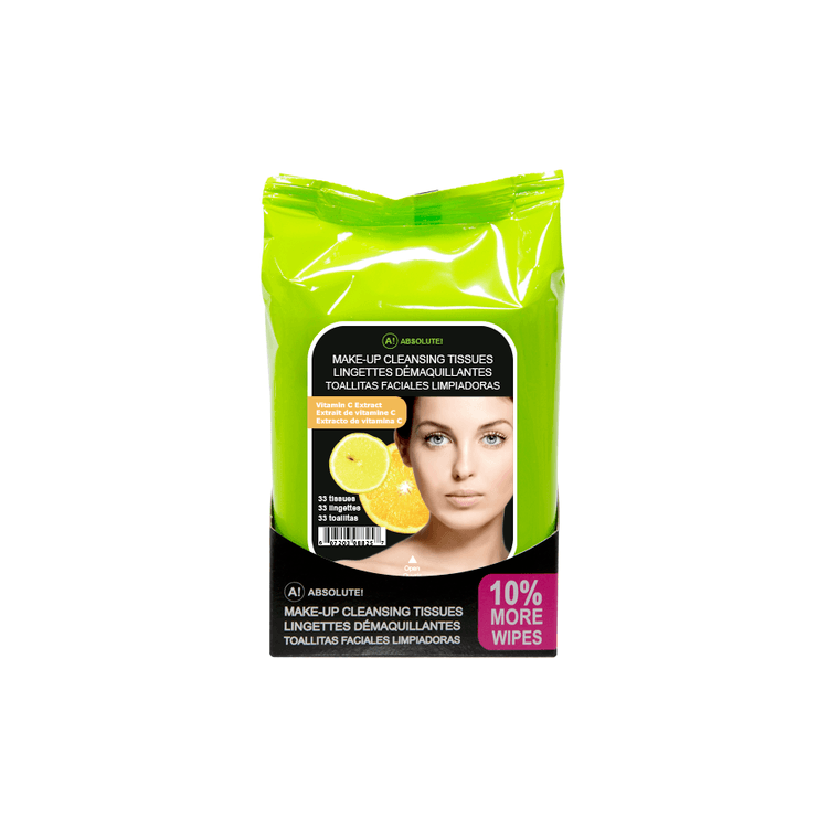 Absolute New York Make-Up Cleansing Tissues Vitamin C Extract 33 st.