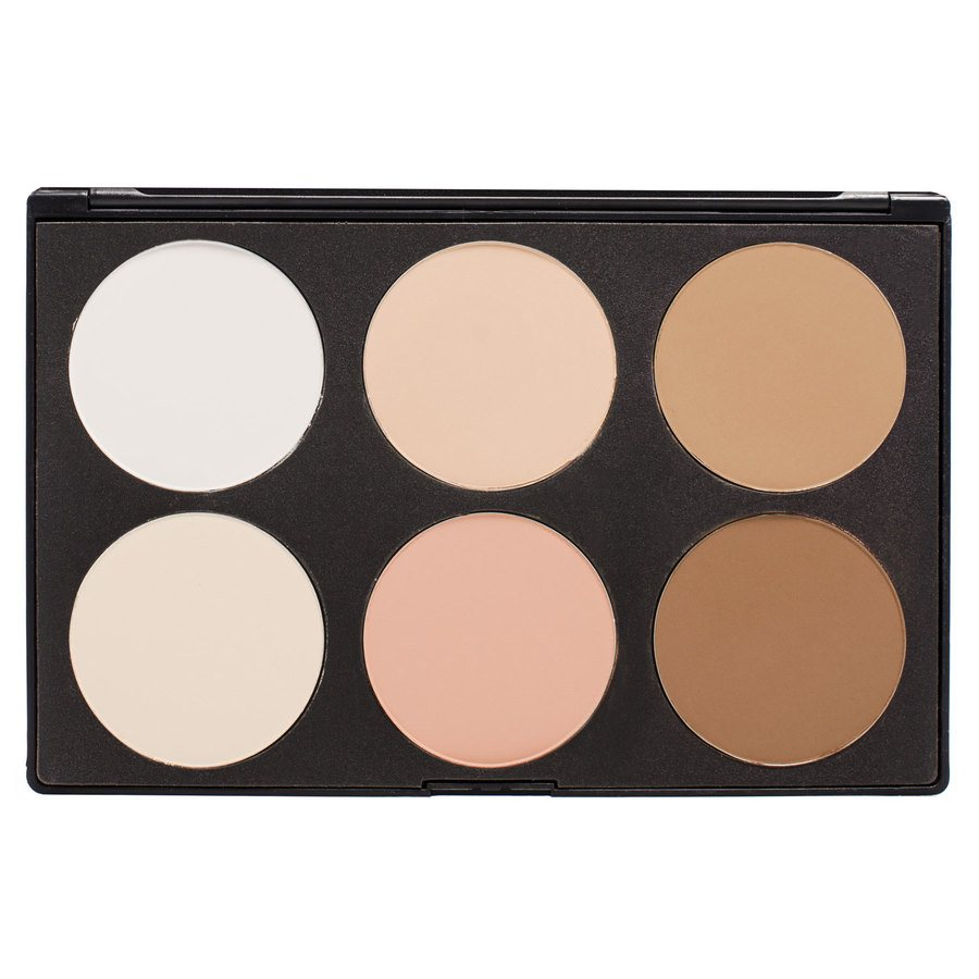 Smashit Cosmetics 6 Color Contour Powder Palette Light Skin Mix 1