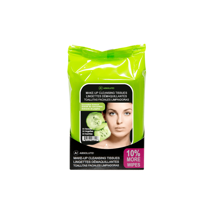 Absolute New York Make-Up Cleansing Tissues Cucumber Extract 33 st.