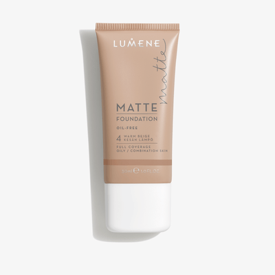 Lumene Matte Foundation 4 Warm Beige 30ml