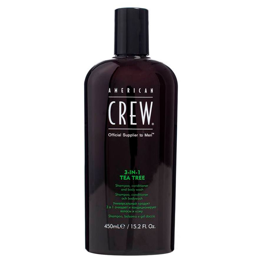 American Crew 3 In 1 Tea Tree Shampoo, Conditioner och Bodywash 450 ml