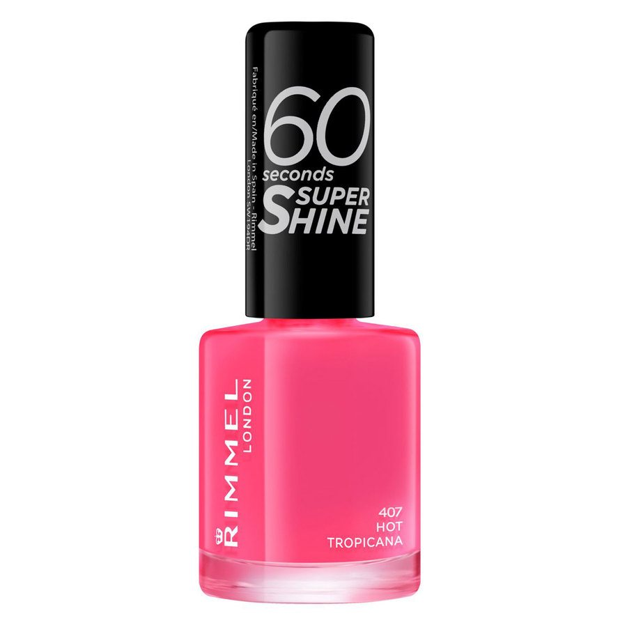 Rimmel London 60 Seconds Super Shine Nail Polish #407 Hot Tropicana 8ml