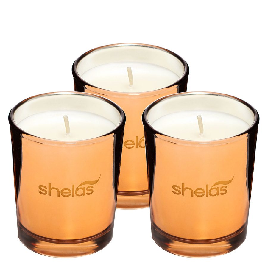 Shelas Scented Candle Spicy Vanilla 3pcs