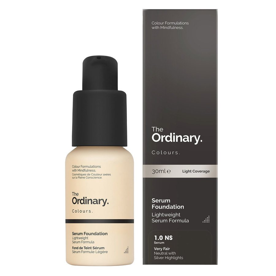 The Ordinary Serum Foundation 1.0 NS very fair Neutral Silver