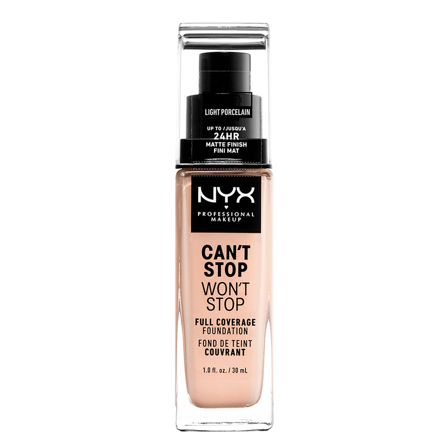 NYX Professional Makeup Can't Stop Won't Stop Full Coverage Foundation Light Porcelain 30 ml